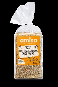 Amisa Organic Sunflower & Sesame Cripsbread