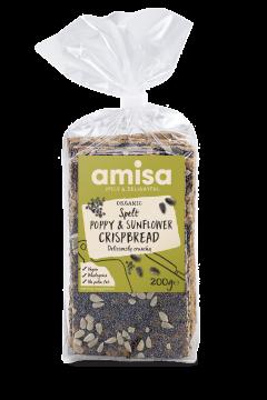 Amisa Organic Spelt Poppy Seed & Sunflower Crispbread