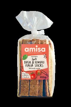 Amisa Organic Spelt Tomato Bail Italia Sticks
