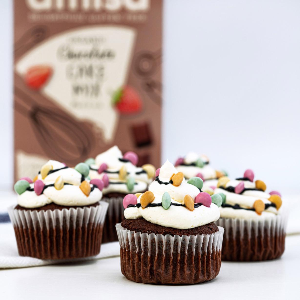 Amisa Gluten Free Christmas Light Cupcakes