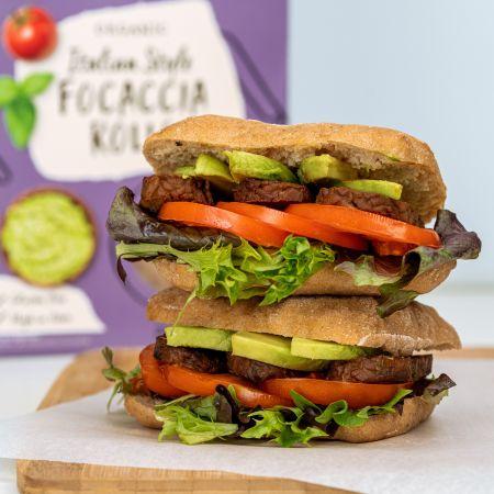 Amisa Focaccia BLT gluten free sandwich