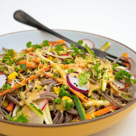 Amisa Organic Gluten Free Buckwheat and White Miso Noodle Spaghetti Salad